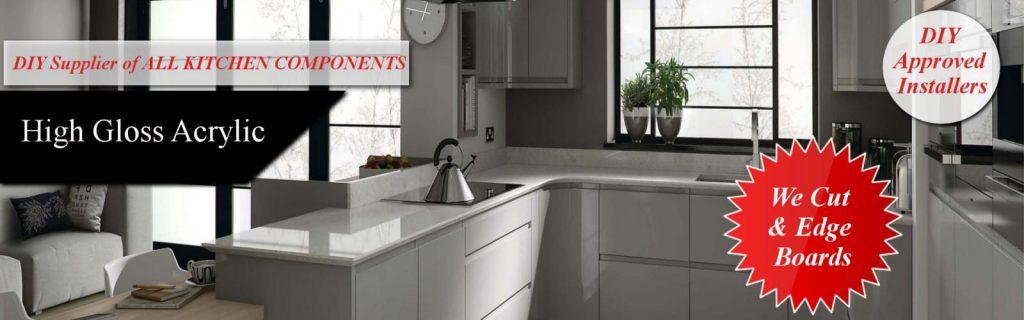 High Gloss Kitchen Cabinets Units Universal Doors
